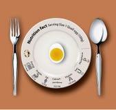 营养事实鹌鹑蛋 免版税图库摄影