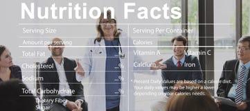 营养事实医疗饮食营养概念 免版税库存图片