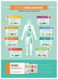 营养和健康 库存例证