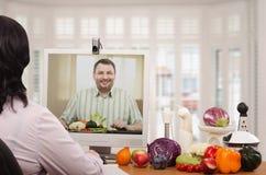 营养咨询的事务在网上 免版税库存图片
