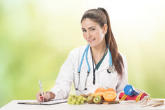 营养师医生妇女 免版税库存照片