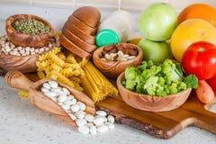 营养素的选择素食饮食的 免版税库存图片