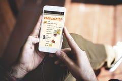 营养被冷藏的买菜名单概念 免版税库存图片