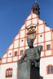 萨克森纪念碑,普劳恩的阿尔伯特国王 免版税库存图片