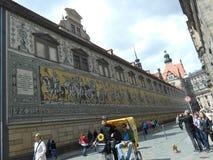 萨克森,德累斯顿,德国的统治者的壁画 免版税库存照片
