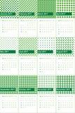 萨利姆和christi上色了几何样式日历2016年 库存照片