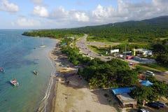 萨利姆天堂海滩,牙买加 免版税库存图片