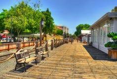 萨加门多步行,加利福尼亚射击,美国 免版税库存图片