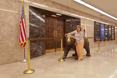 萨加门多状态国会大厦内部建筑学 库存照片