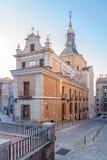 萨加门多的教会在马德里 免版税库存照片