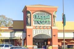 萨加门多,美国- 12月21日:矿块在Decembe的商店入口 免版税库存照片