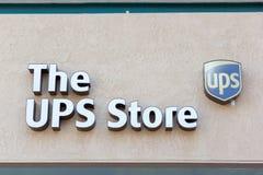 萨加门多,美国- 9月13日:2的9月13日, UPS商店 免版税库存图片