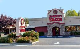 萨加门多,美国- 9月13日:Jimboy的Septembe的炸玉米饼地方 库存照片