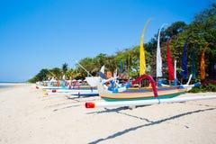 萨努尔海滩场面 免版税库存照片