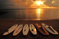 萨努尔海滩 库存照片