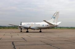 萨博飞机fron阿根廷人空军队在帕洛马山,阿根廷 免版税图库摄影