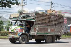 萨哈Thip皮带运输老卡车  免版税库存图片