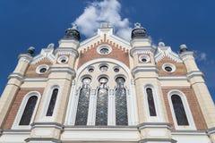 从萨图马雷市的犹太教堂 图库摄影