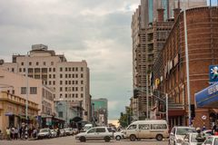 萨姆・努乔马街在哈拉雷津巴布韦 库存图片