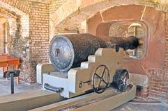 萨姆特堡:火炮炮台 免版税图库摄影