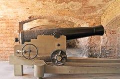 萨姆特堡:主席大炮 免版税库存图片