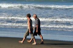 萨姆纳海滩在克赖斯特切奇新西兰 免版税库存图片