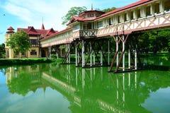 萨娜姆Chandra宫殿是Vajiravudh建立的宫殿复合体在佛统,泰国 库存图片