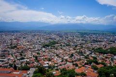 萨尔塔,阿根廷,鸟瞰图 免版税库存图片