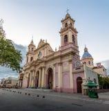 萨尔塔-萨尔塔,阿根廷大教堂大教堂  库存照片