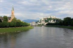 萨尔察赫河河 库存照片
