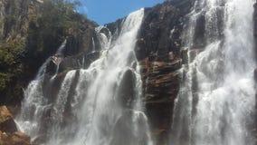 萨尔托省美丽的瀑布  库存图片