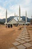 费萨尔清真寺在伊斯兰堡,巴基斯坦 库存照片