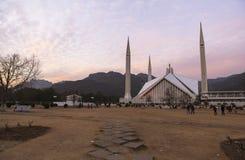 费萨尔清真寺在伊斯兰堡,巴基斯坦 库存图片