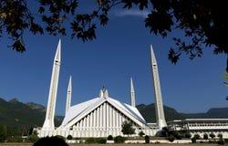 费萨尔清真寺,伊斯兰堡 免版税图库摄影