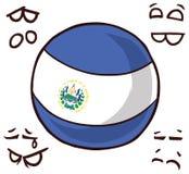萨尔瓦多国家球 皇族释放例证