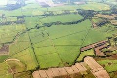 萨尔瓦多的农村地区空中全景  免版税库存图片