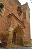 萨尔瓦多的教会的进口在锡丰特斯 建筑学,宗教旅行 免版税库存照片