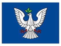 萨尔瓦多的旗子  向量例证