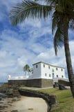 萨尔瓦多巴西堡垒圣玛丽亚在巴拉岛 免版税库存图片