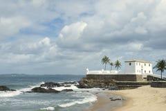 萨尔瓦多巴西殖民地堡垒圣玛丽亚在巴拉岛 免版税库存图片