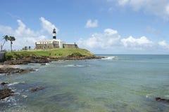 萨尔瓦多巴西Farol da巴拉岛灯塔海滩 免版税图库摄影