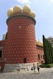 萨尔瓦多・达利博物馆的大厦的片段在Figueros 库存图片