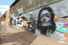 萨尔瓦多・达利街道画 库存照片