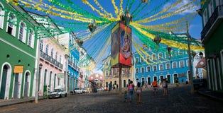 萨尔瓦多da巴伊亚,巴西历史中心 免版税库存照片