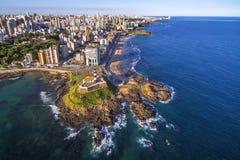 萨尔瓦多da巴伊亚,巴西鸟瞰图  库存照片