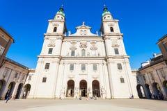 萨尔茨堡主教座堂在萨尔茨堡 免版税库存照片