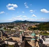 萨尔茨堡全景  免版税图库摄影