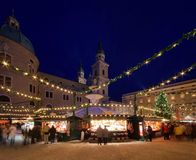 萨尔茨堡圣诞节市场 免版税图库摄影