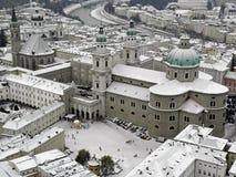 萨尔茨堡在冬天雪奥地利, 5之前 库存照片