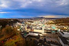 萨尔茨堡在奥地利 库存照片